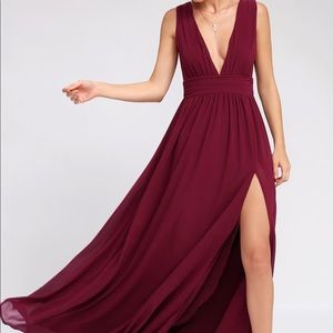 Lulus Deep V Maxi Dress